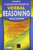 A Modern Approach to Verbal Reasoning FULLY SOLVED Old Edition by R.S. Aggarwal