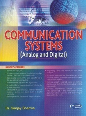 Communication Systems Analog and Digital                        Paperback Sanjay Sharma | Pustakkosh.com