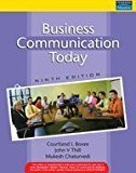 Business Communication Today Ninth Edition by Courtland L Bovee J. V. Thill Mukesh Chaturvedi