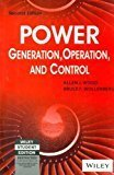 Power Generation Operation and Control 2ed by Bruce Wollenberg Allen J Wood