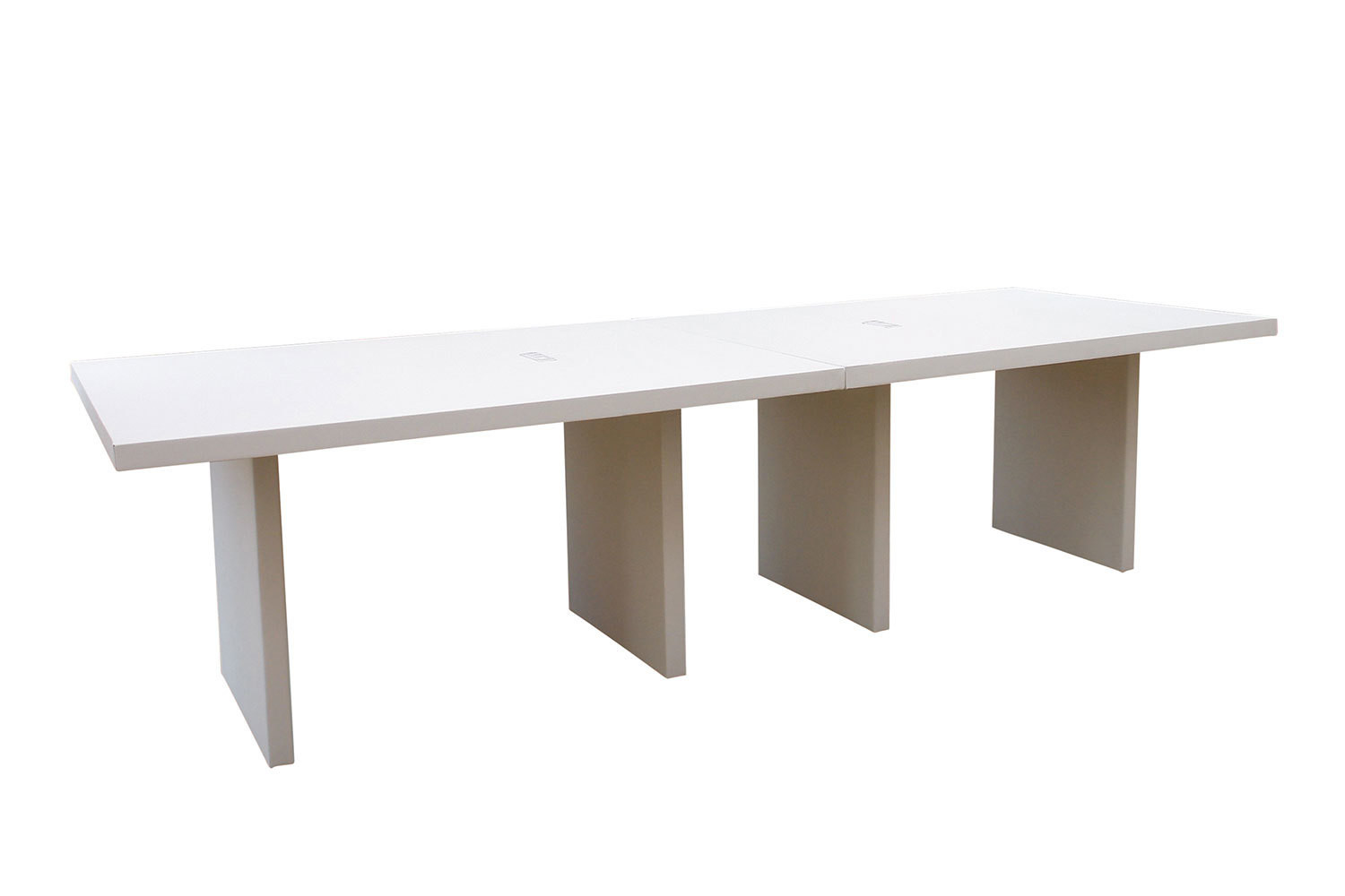 White 10' Charging Conference Table