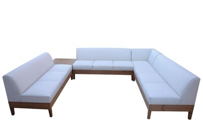 Wood Base U-Shaped Sectional
