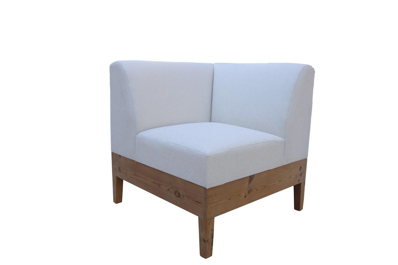Wood Base Corner Modular Chair