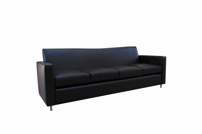 Black Tech Charging Sofa