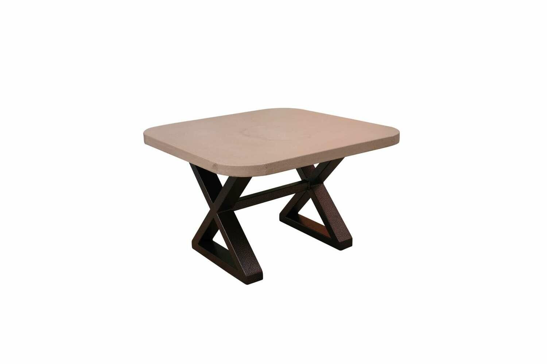 Concrete & Metal Scround Cocktail or Cornor Table