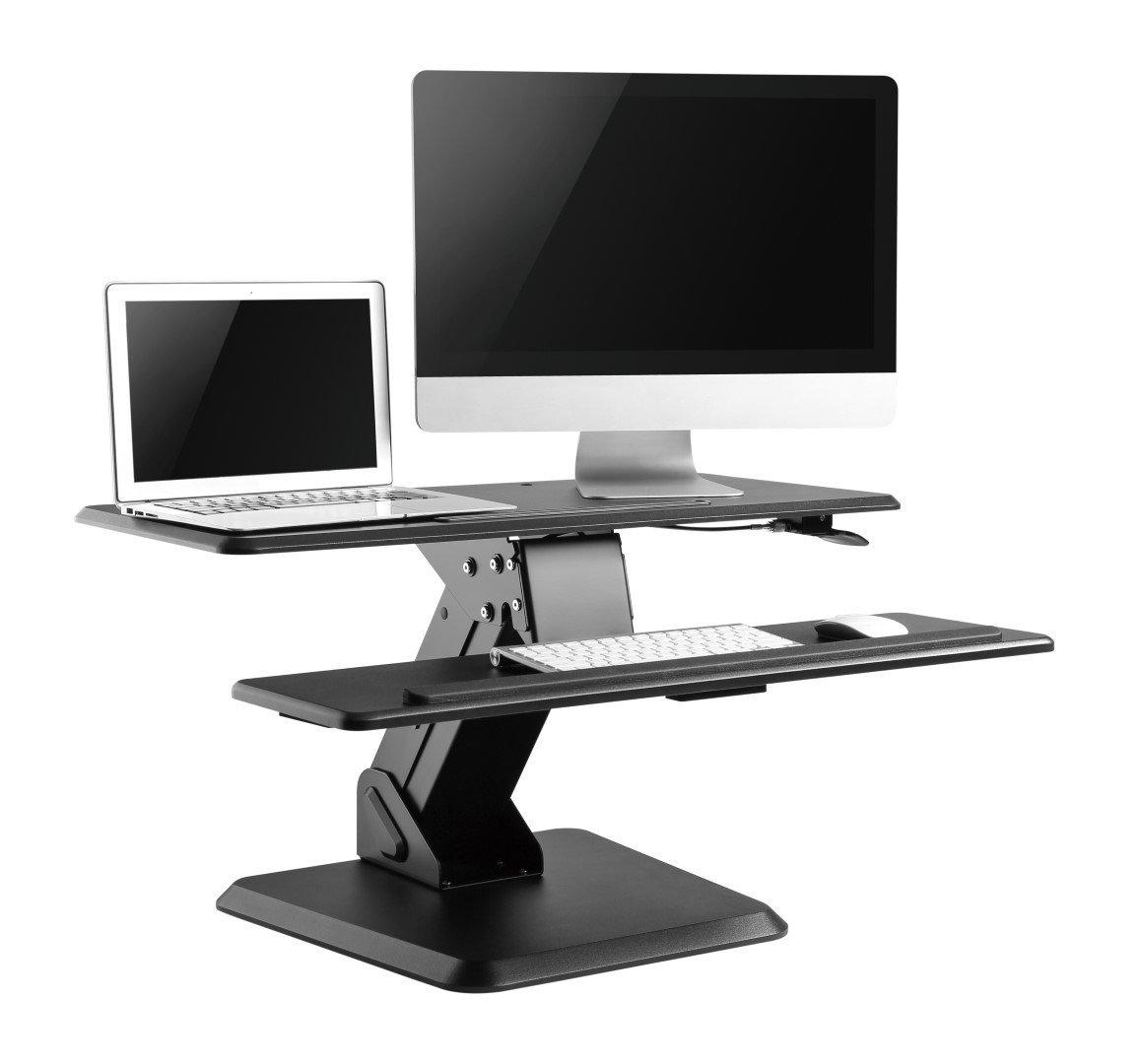M-Lift   Manual Sit Stand Desktop Unit
