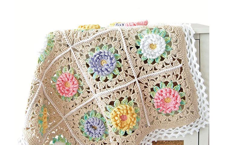 CROCHET PATTERN : English Garden Baby Blanket 00010