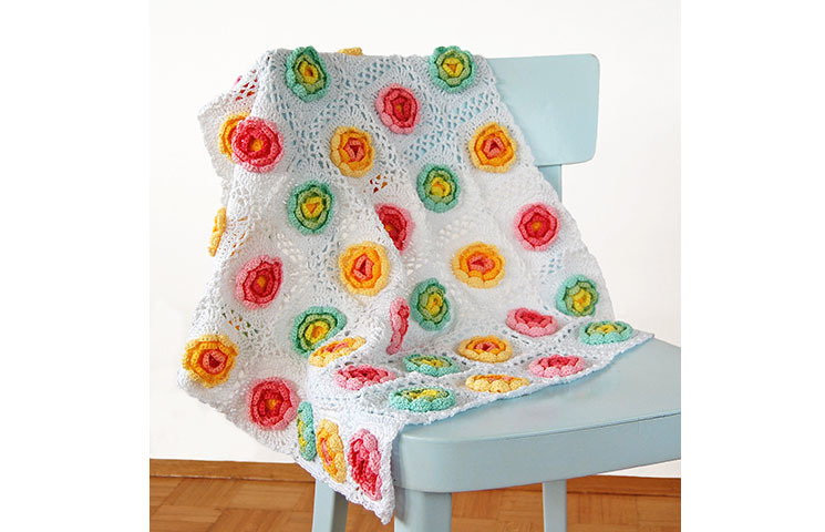 CROCHET PATTERN: Blooming Baby Blanket