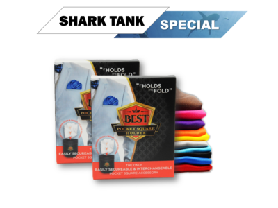 Shark Tank Special (2) Pocket Square Holders  + (2) Free Pocket Squares ​+ Free Shipping