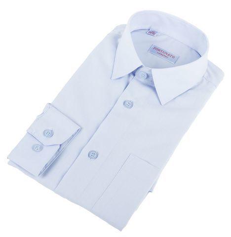 Сорочка мальчик, длинный рукав, приталенная, св.голубой. Артикул: DL00R82DN001CFR_SL BSDL00R82DN001CFR