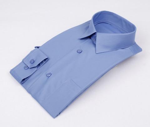 Сорочка мальчик, длинный рукав, приталенная, синий. Артикул: DL00R82MN001EFR_SL BSDL00R82MN001EFR