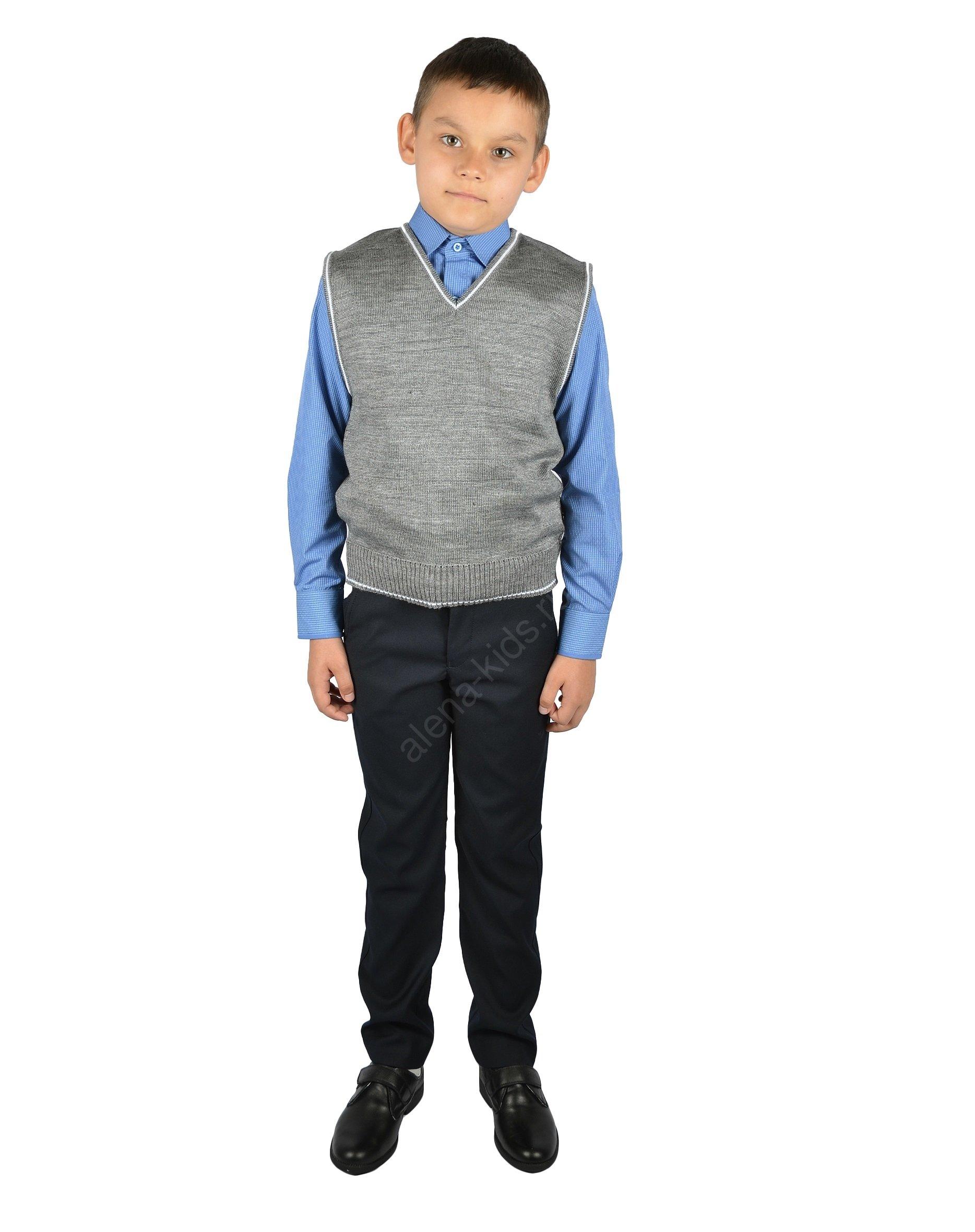 Жилет для мальчика YSTT-ЖД-3св-сер