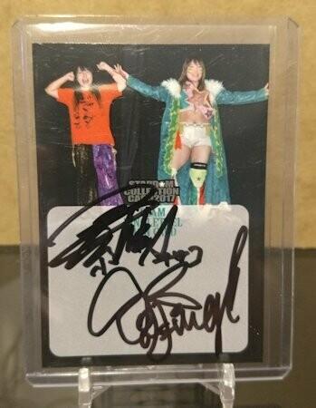 Jungle Kyona and Natsuko Tora Stardom Collection Card 2017 Autograph