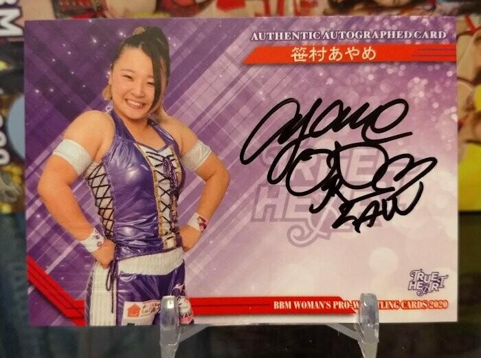 Ayame Sasamura 2020 BBM Joshi True Heart Autograph /97