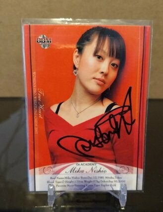 Mika Nishio 2007 BBM Joshi True Heart Autograph /78