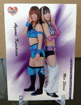 Mio Shirai and Ayumi Kurihara 2013 BBM Kurihara Memorial Base Card