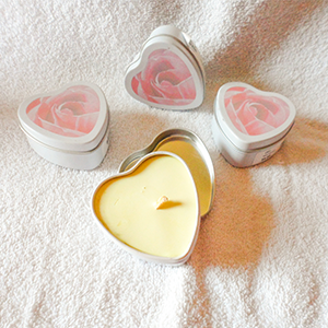 Soy Candle Heart Tin Container