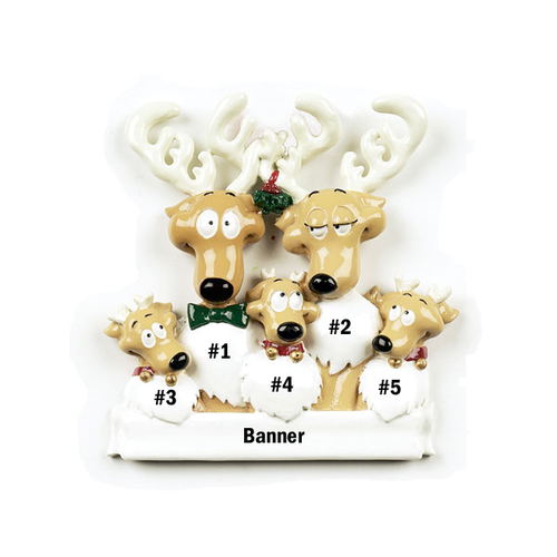 Reindeer Family of 5