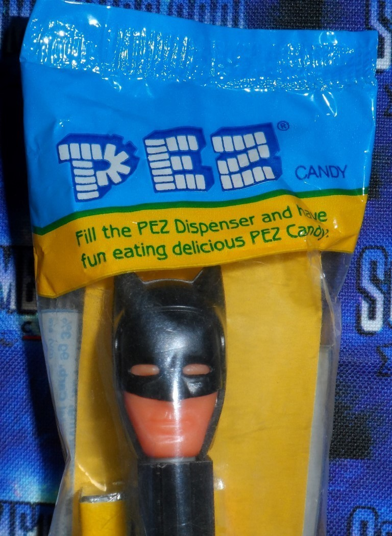 Batman Pez Dispenser - 1989 or 1990's Black Cowl Edition