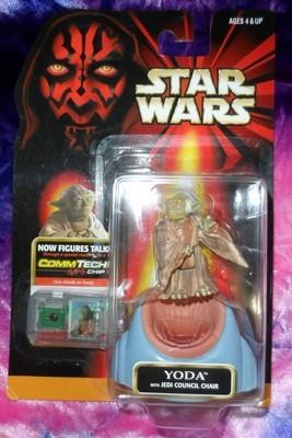 Star Wars - Yoda w/ Council Chair & Commtech Chip