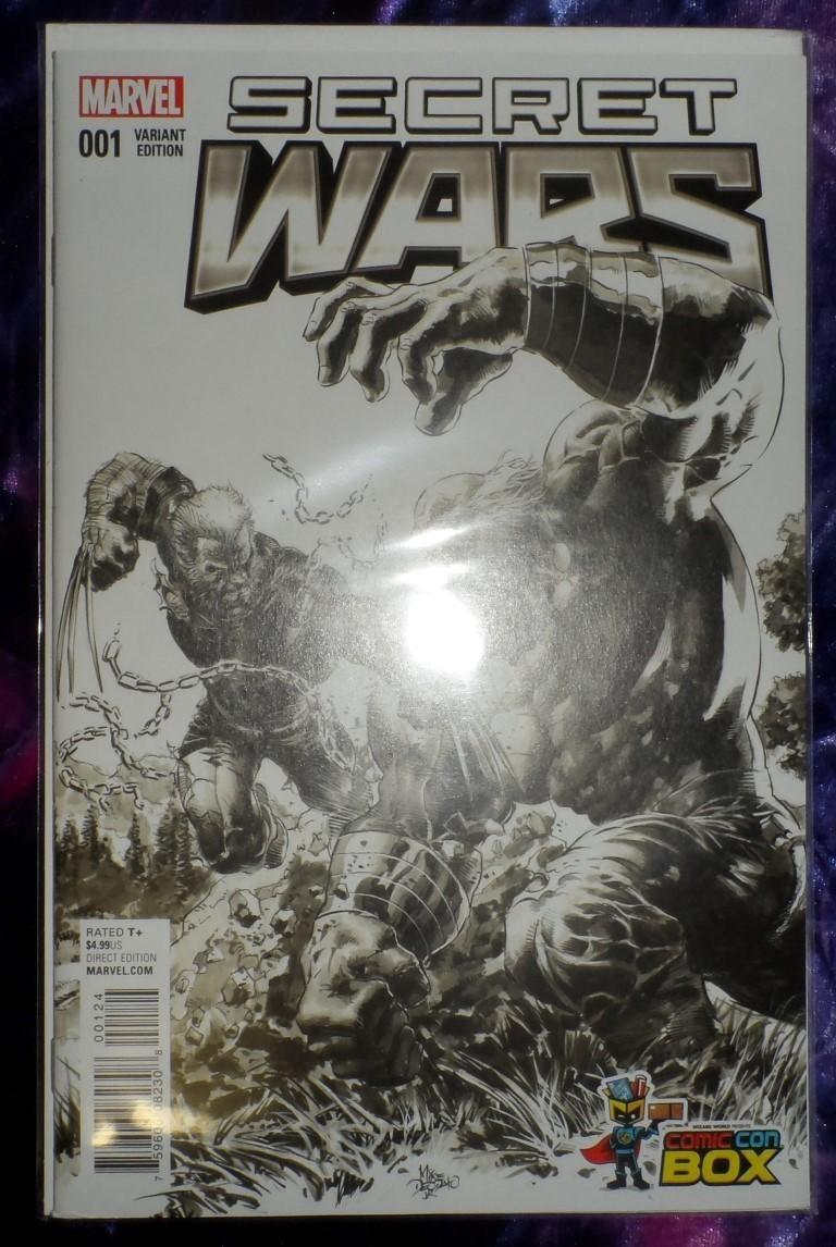 Secret Wars #001 -Comic Con Box Variant
