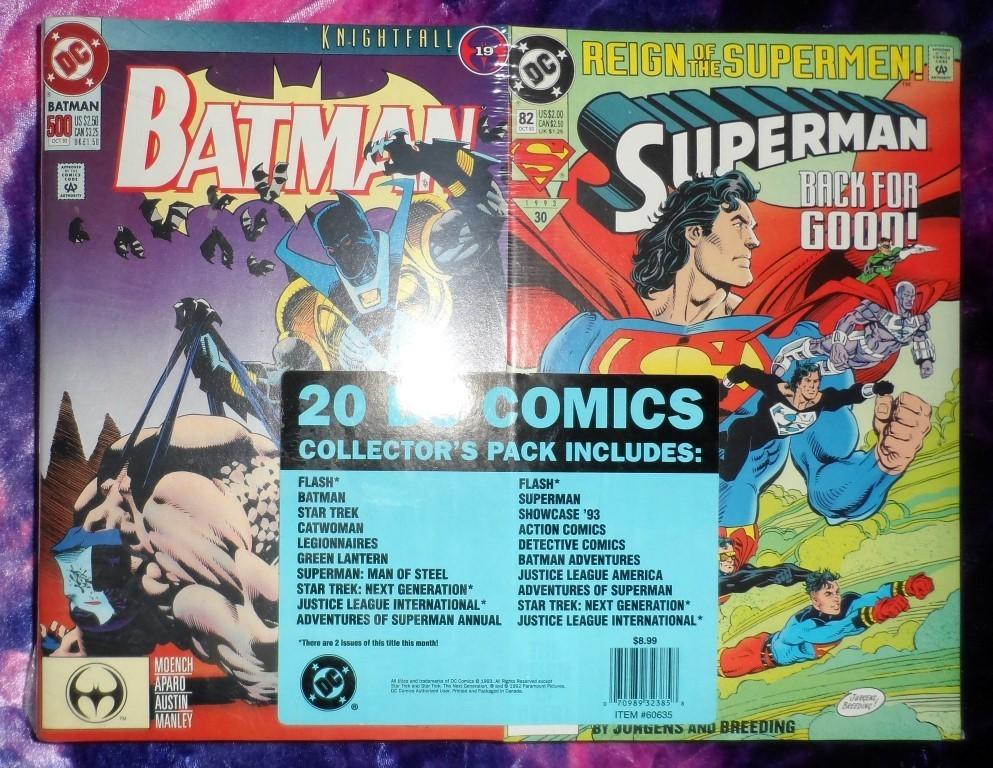 DC Comics Collector's Pack of 20 comics (OCT. 1993)