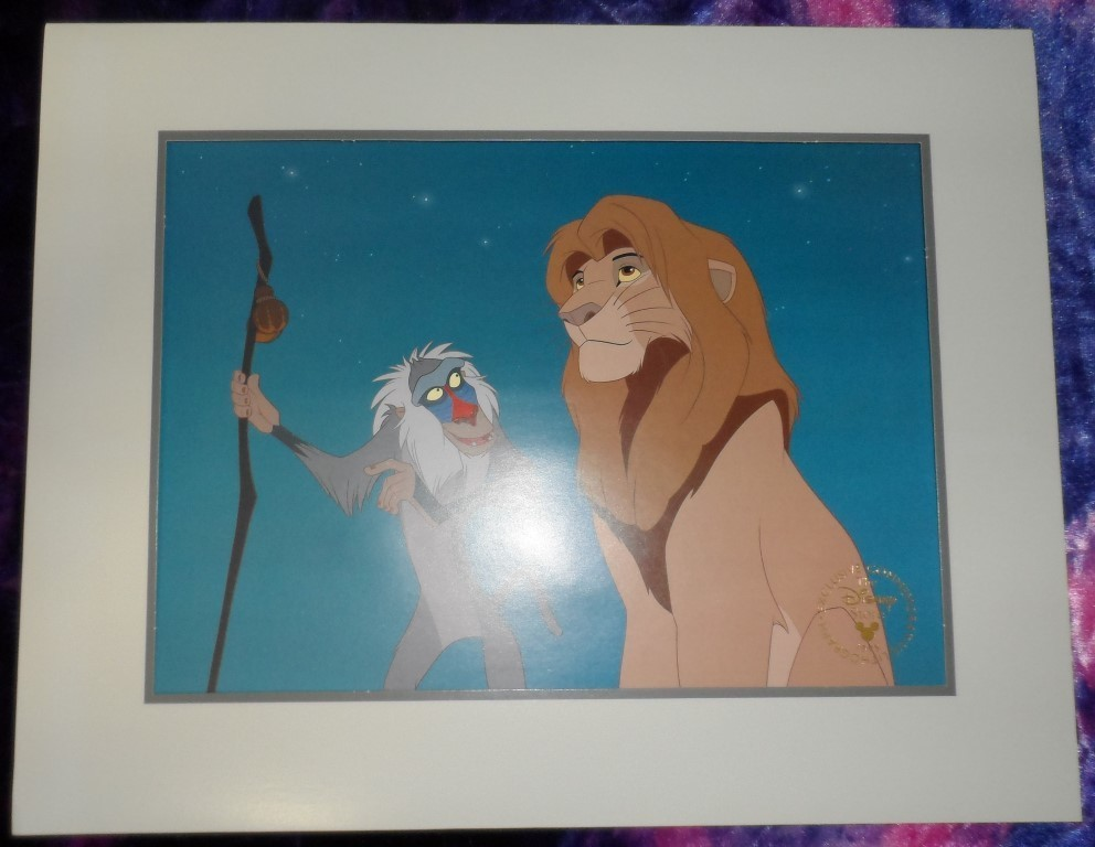 the Lion King Commemorative Lithograph