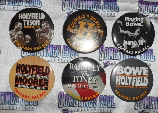 Caesars Palace Boxing Button Collection