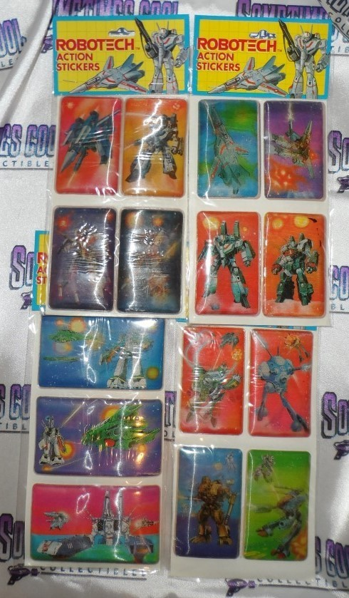Robotech Action Sticker Collection (4 Pack)