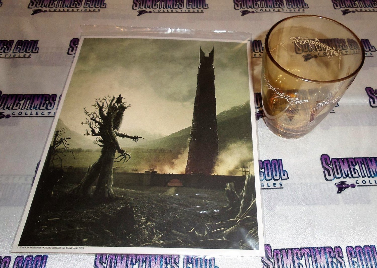 Lord of the Rings Print & Glass Set