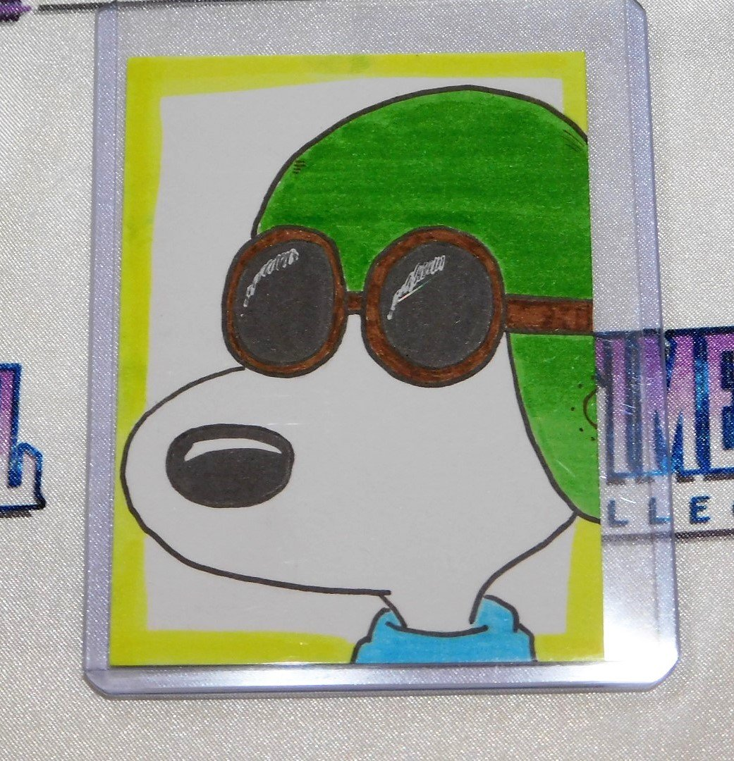 """Snoopy """"Flying Ace"""" Sketch Card"""