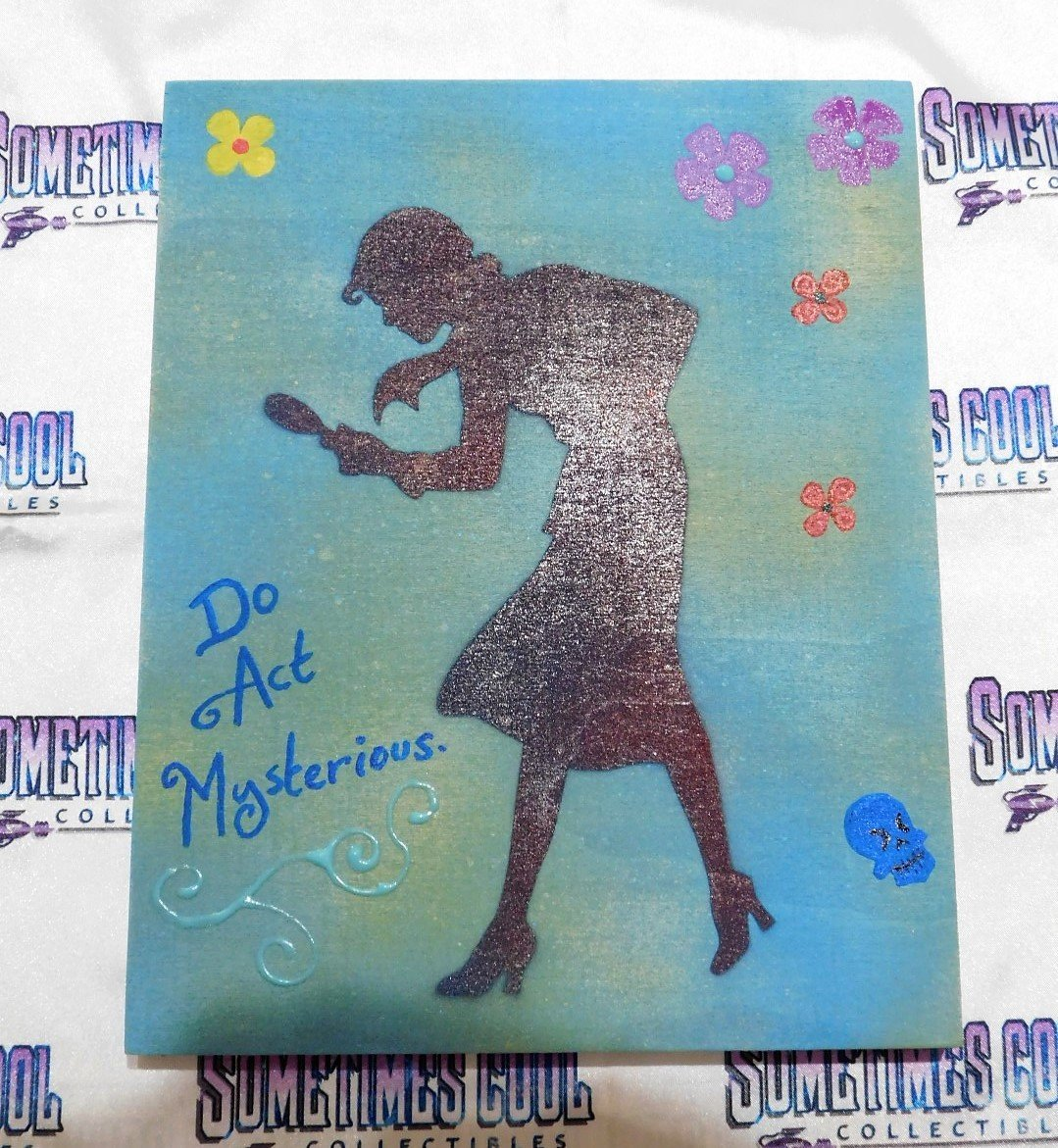 "Nancy Drew (in Blues) : 8"" x 10"" Painting"