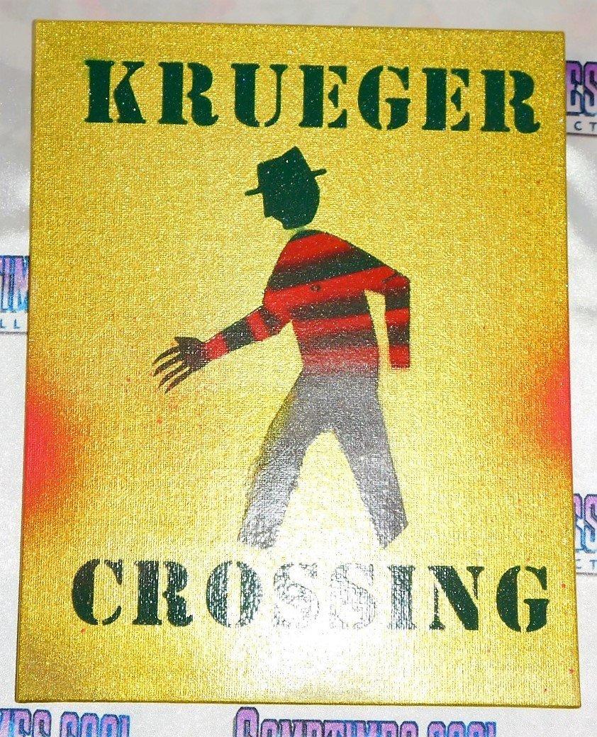 Krueger Crossing : Nightmare On Elm Street Sign (Yellow)