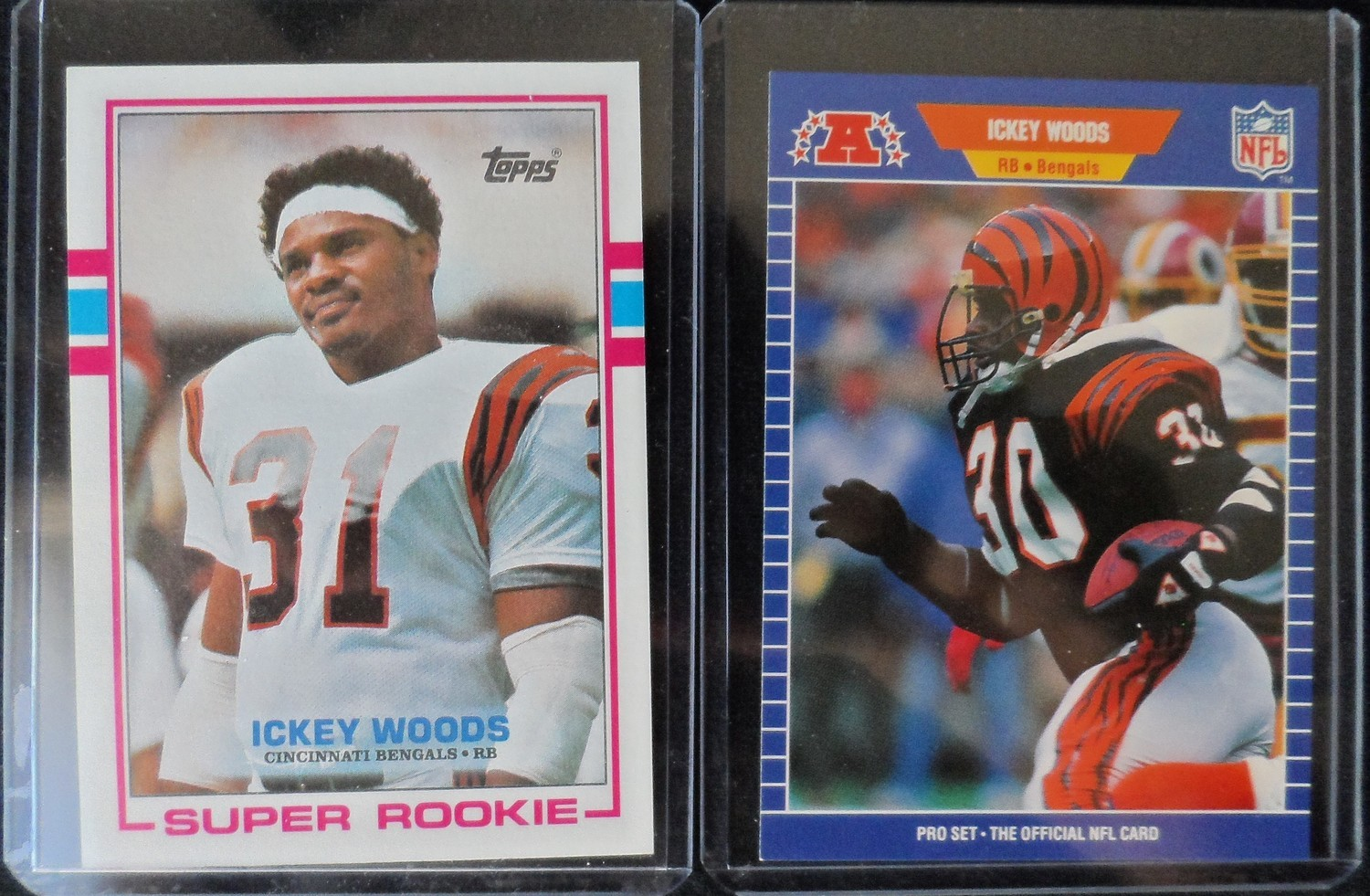 Ickey Woods Card Set