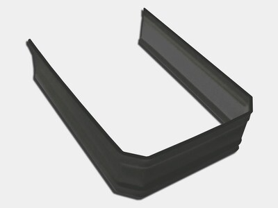 Corrugated Square Steel Downspout Strap