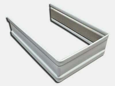 Plain Square Aluminum Downspout Strap