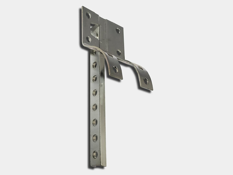 Crown Molding Galvanized Steel Shank #6 for Half Round Gutter Hanger