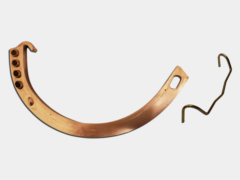 Copper Gem Circle Half Round Gutter Hanger