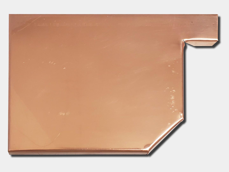 Residential Box Copper Gutter Left / Right End Cap