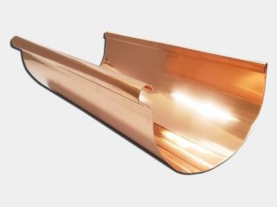 Reverse Bead Copper Half Round Gutter
