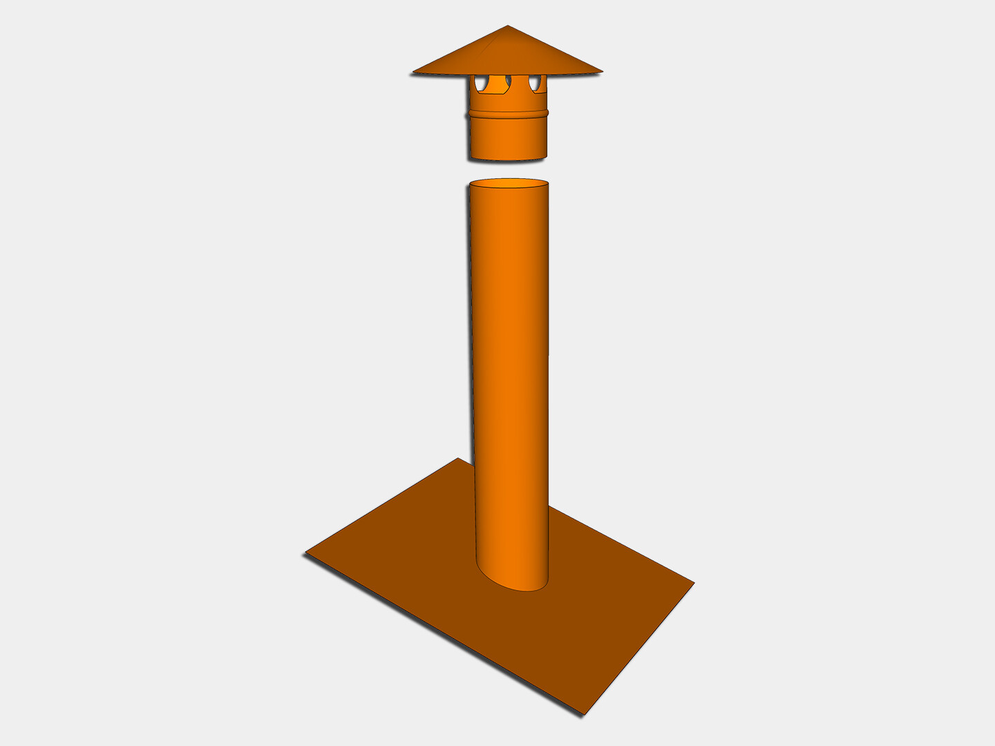 Pipe Vent Stack Cover with Mounting Flange