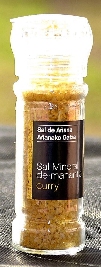 Molinillo de Sal mineral de Manantial con Curry, 75 g - Gourmet by Beites