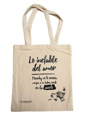 Lo inefable del amor (solo bolsa de tela color ahuesado)