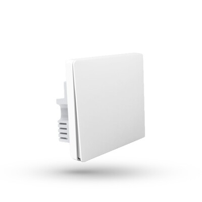 Настенный выключатель Aqara Wall Light Switch One Button Edition (QBKG04LM) (одинарный, без нулевой линии, белый)