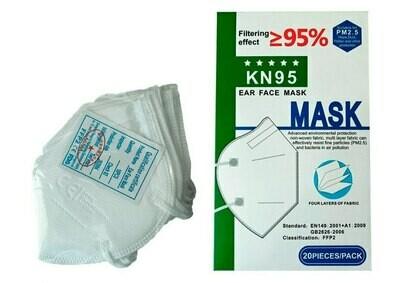 Маска защитная KN95 класс защиты FFP2 20 штук