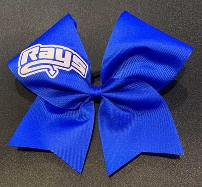 Big Blue Bow with White rays