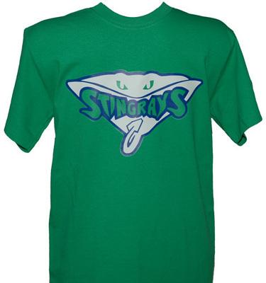 Stingrays Animal Green T-shirt