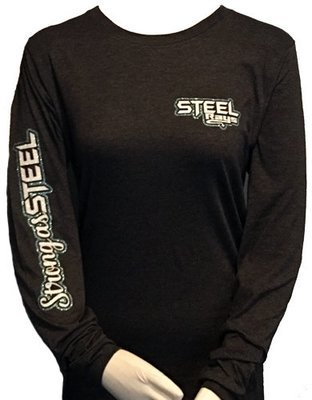 Steel Rays DH Gray LS T-shirt Strong as Steel Glitter