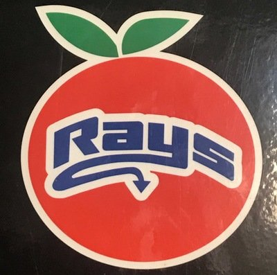 Orange Rays Decal