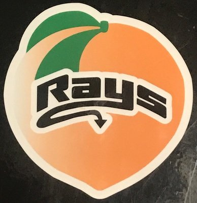 Peach Rays Decal